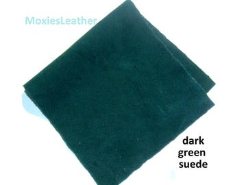dark green suede pieces  - suede skins - wholesale suede from moxies leather - purple suede leather pieces , blue suede , leather supplies