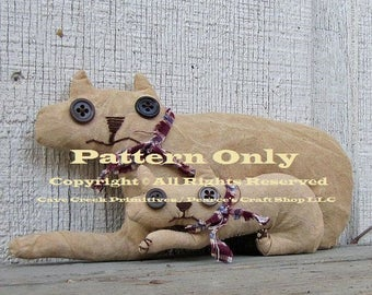 Primitive Cats Pattern, Mad Bad Cats Craft Pattern, E-Patterns