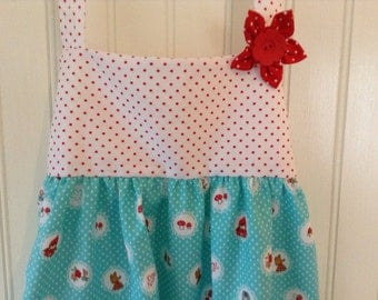 Little Girls Prairie Apron, Apron, Play Apron, Dress Up Clothes, Christmas Gift, Imaginative Play, Waldorf