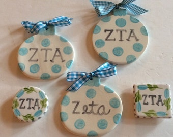 SALE!  ZTA Ornament/Magnet Package