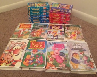 Winnie The Pooh VHS 20 Tape Lot For VCR