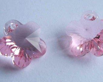 SWAROVSKI 6744 Flower crystal pendant LIGHT Rose