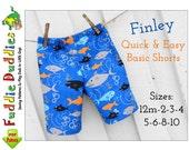 Finley Boys Shorts Sewing Pattern. Toddler Pants Pattern. Toddler Sewing Pattern, Boys Pants,  Boys Shorts Pattern. pdf Sewing pattern