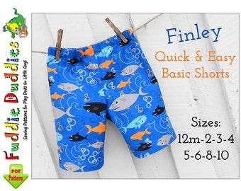 Finley Boys Shorts Sewing Pattern. Toddler Pants Pattern. Toddler Sewing Pattern, Boys Pants,  Boys Shorts Pattern. pdf Sewing pattern