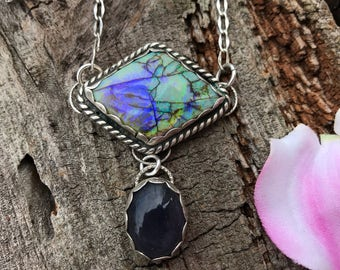 Monarch Opal and Iolite Necklace