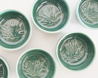 IN STOCK, Copitas for Mezcal, Handmade Pottery Green Mezcal Glasses, Ceramic Shot Glass Set, Copitas de Mezcal, New Years Gift