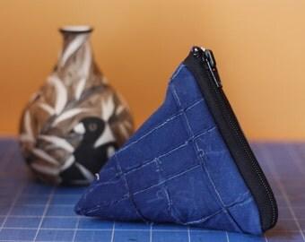 Triangular Banskia - Textured Handmade Purse