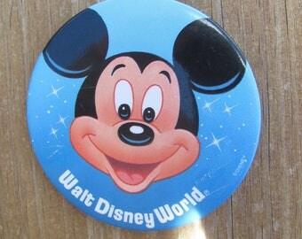 Vintage Mickey Mouse Walt Disney World Button