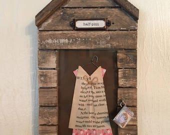 Little House on the Prairie Dress Ornament framed for Room Decor