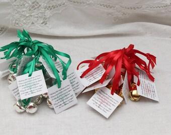 Wedding Ceremony Decoration Party Decor Bells with tags, Wedding Reception Bells, Wedding Kissing Bells 5 - 12 Sets