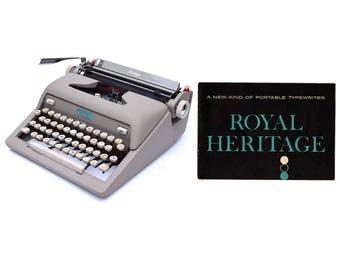 Royal Heritage Portable Typewriter Instruction Manual Instant Download