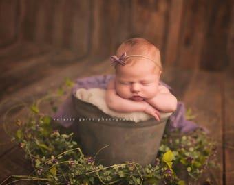 LIGHT PLUM NEWBORN Tieback, Newborn Photo Prop, Newborn Headband, Photography Prop, Plum Tieback, Newborn Photo Prop, Plum Baby prop, plum