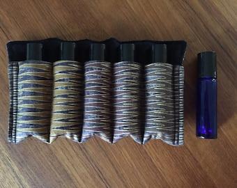 Essential Oil Rollerball Insert Travel Case - Fabric: Lonni Rossi Zig-Zags
