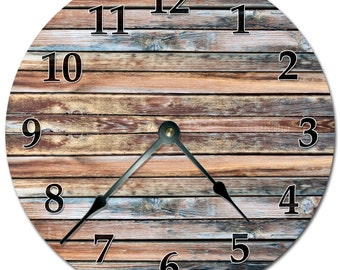 """OLD BARN WOOD Clock Extra Large 15.5"""" to 16"""" Wall Clock - 2117-16"""