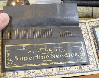 Vintage Piccadilly Needle Case / Book with most needles in place