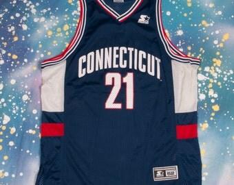 Connecticut HUSKIES #21 Starter Basketball Jersey Size  XL