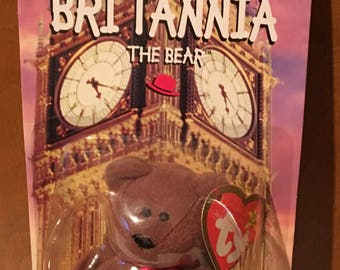Beanie Babies, Britannia the Bear, McDonald promo.