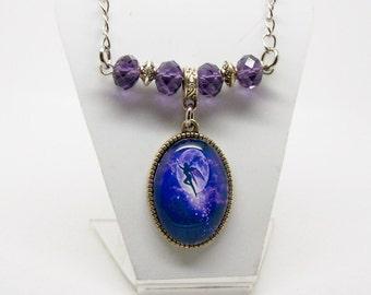 Fairy Necklace, Purple Crystal, Fairy Jewelry, Fantasy Necklace, fay, fae, faery, faerie