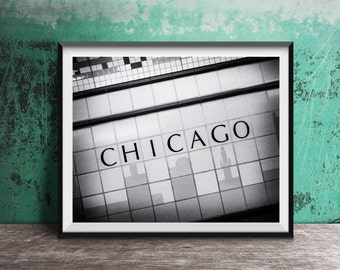 Chicago photography print - black and white art print
