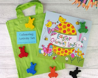 Easter Crayons -  Easter Gifts for Kids - Activity Pack - Handmade Crayons - Colouring Set - Easter Basket - Easter Bunny -Gift for Children