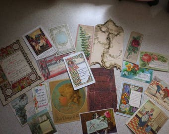 Lot of Antique Ephemera - Vintage Religious and Chrinstmas -