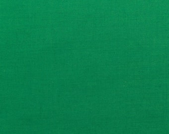 60 Inch Poly Cotton Broadcloth Kelly Green Fabric by the yard - 1 Yard