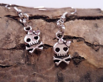 Earrings Skull, girlie skull