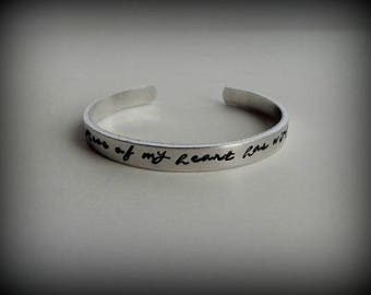 A piece of my heart has wings Hand Stamped Memorial Jewelry - Remembrance - Miscarriage Bracelet - Bereavement Gift