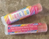 Consultants Gifts,Custom Lip Balm, personalized, Chapstick, Customers,Thank you, Gifts, Business Cards, launch,party favors, marketing kits