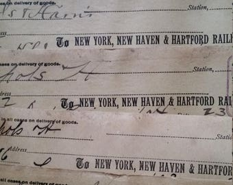 ON SALE 1890's Gorgeous Railroad Shipment Receipts | Handwritten Ephemera Lot