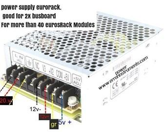 eurorack meanwell power supply,  eurorack 5v 12 -  12+