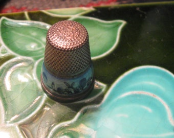 Thimble Vintage sterling silver from Holland