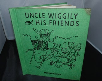 Vintage Uncle Wiggily and His Friends Vintage Children's Book Color Illust. Garis 1955