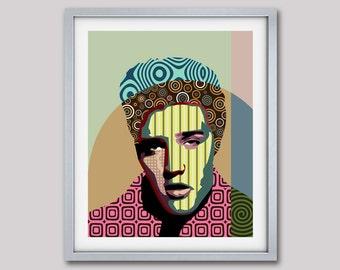Elvis Presley Poster, Rock n Roll Art Decor,  Elvis Presley Gift, Elvis Print, Super Star Pop Art Poster, Elvis Art