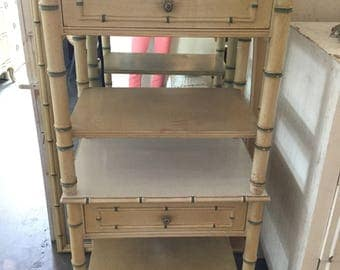 Faux Bamboo End Tables, nightstands