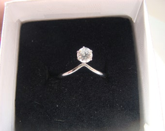 Gorgeous Clear Topaz Ring