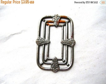 Christmas Sale Art Deco Steel Stamping - Rusty Steel Finding - Steel Findings - Art Deco Findings - Art Deco Stamping