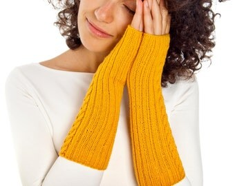 Spiral Arm warmers From Pure Merino Yarn Texting Gloves Fingerless Gloves Fingerless Arm warmers Woollen Gloves