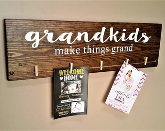 Grandkids Make Things Grand Wood Sign