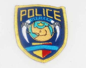 "4"" Fully Embroidered Zootopia Officer Inspired Patch"