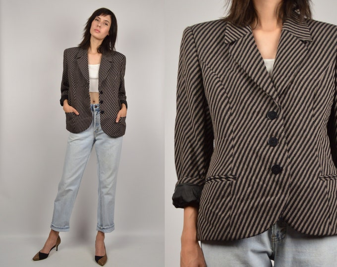 Vintage Giorgio Armani Striped Blazer