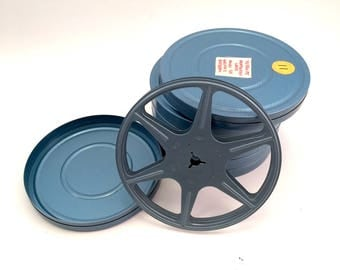 Metal Film Reel Containers - Blue