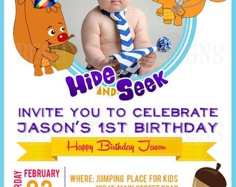 Hide and Seek Birthday Invitation