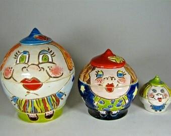 Matryoshka * Russian nesting doll * Stacking dolls * Hand Painted Nesting dolls ceramic pottery handmade nesting dolls toys children's gifts