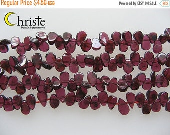 55% OFF Red garnet flat drop beads 4x7mm 6inch strand