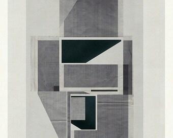 Mid Century Wall Art, Architectural Print, Geometric Art, Modern Art, Minimalist Art, Geometric Print - Limited edition (20)