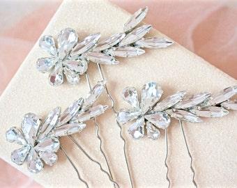Rhinestone Hair Pins,Bridal Hair Pins,Wedding Hair Pins,Crystal Hair Pins,Bridal Hair Piece,Wedding Hair Piece,Crystal Hair Piece,Sparkly