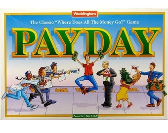 Pay Day Classic Vintage 1990s Retro Board Game from Waddingtons