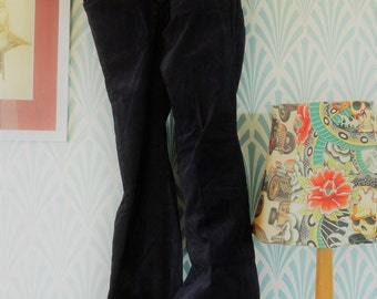 53. Vintage corduroy flared Detis pants, black