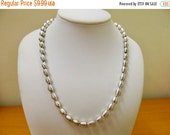 On Sale SARAH COVENTRY Silver Tone Coil Beaded Necklace Item K # 1965